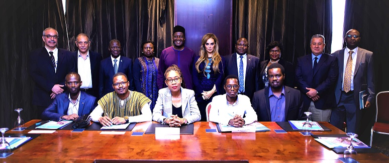 Dr Rasha Kelej, CEO of Merck Foundation during her special meeting with Ministry of Higher Education, Egypt; National Cancer Institute, Cairo and African Ambassadors of Guinea Conakry, Ghana, Kenya, Sierra Leone, Liberia, Malawi and Zambia to discuss Merck Foundation's Cancer Access Program