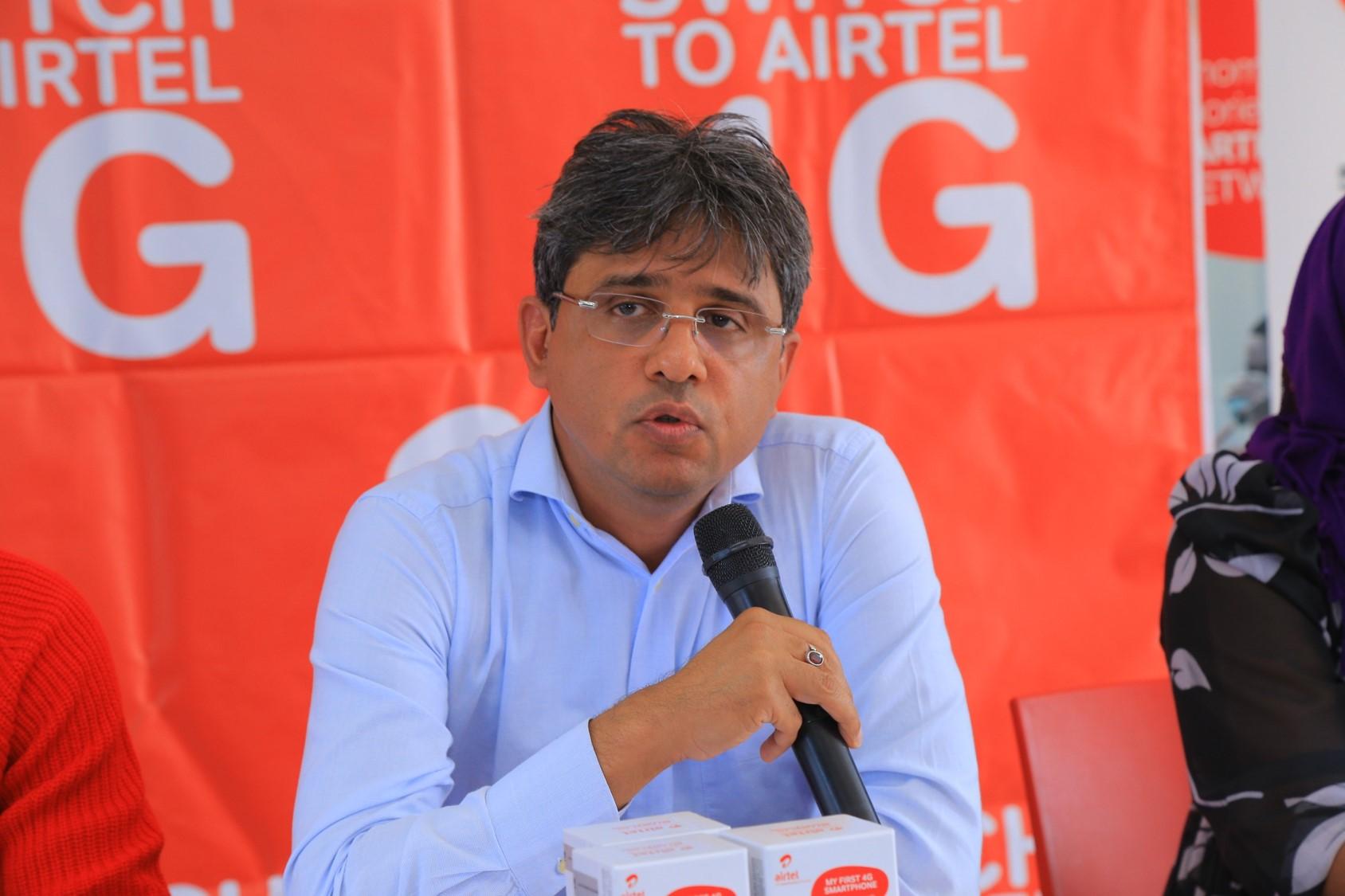 Amit Kapur, Airtel Uganda CEO. (PHOTO/File)