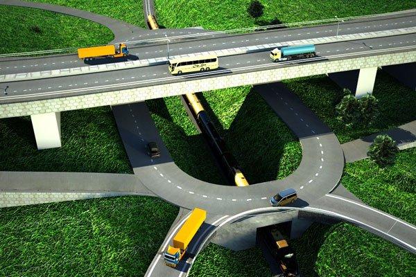 Artistic impression of Kampala-Jinja Expressway at Kinawataka, Kampala.