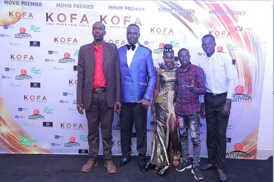 Some of the Kony movie actors dururing premier at Century Cinemax Acacia Mall, Kisementi. (PHOTO/File)