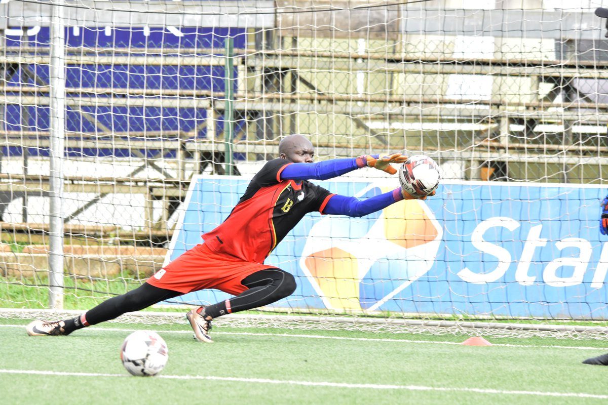 James Alitho () during a recent Cranes training session at Lugogo. (PHOTOS/FUFA)