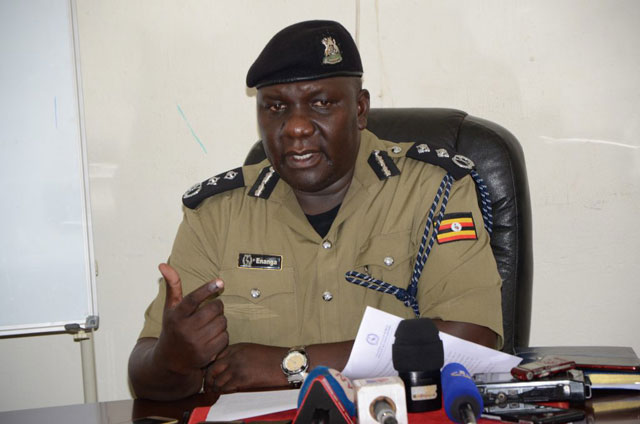 Police media boss Fred Enanga during a presser (PHOTO/File).