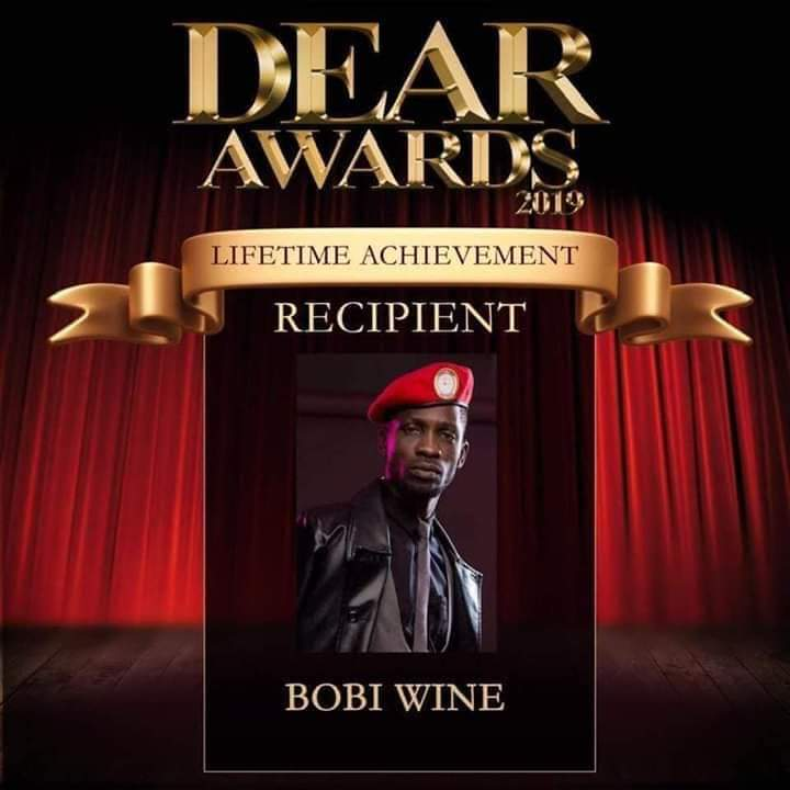 Bobi Wine has been awarded with DEAR life time achievement award in the United States. (PHOTO/Courtesy)