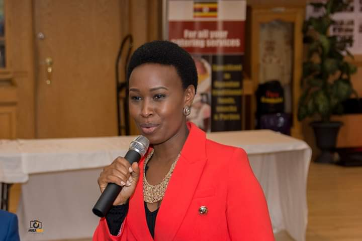 Ms. Barbie Itungo Kyagulanyi gives her key note address at a global conference in Canada.  (PHOTO/Courtesy)
