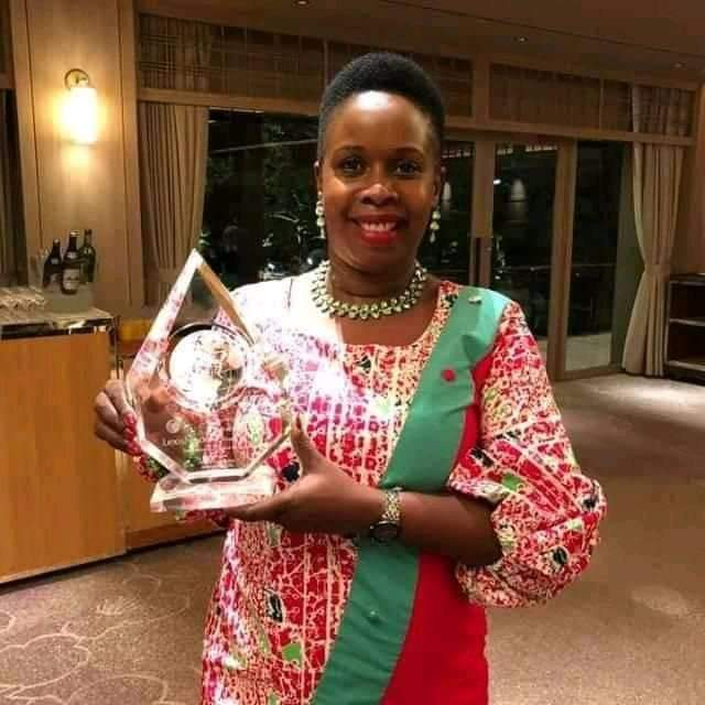 Ms. Nalugo, the CEO, Uganda Law Society has scooped an Ward in Tokyo. (PHOTO/Courtesy)