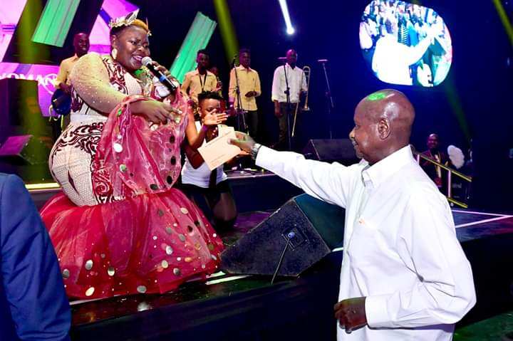 Mr. Museveni was guest of honour at Catherine Kusaasira's concert. (PHOTO/PPU)