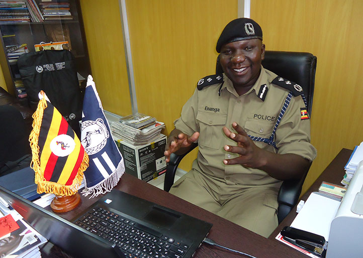 Police spokesperson Fred Enanga, explains how robber suspects were arrested (PHOTO/File)
