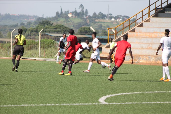Action between the Cranes and Hippos on Tuesday. (PHOTOS/FUFA)