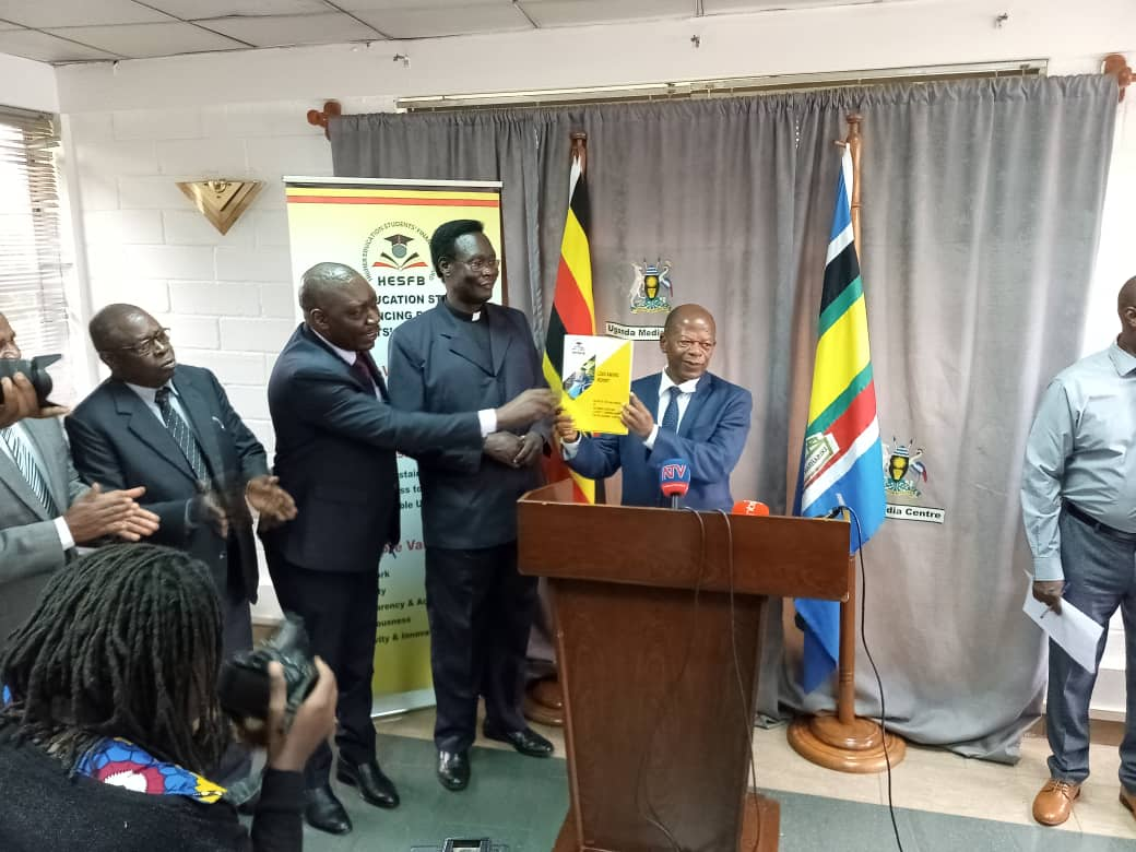 State minister for Education John C. Muyingi has released list on scheme beneficiaries at Media Centre. (PHOTO/Javira Ssebwami)