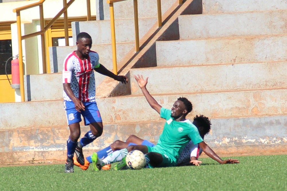 Action between Busoga United and Onduparaka FC on Saturday. (PHOTO/Courtesy)
