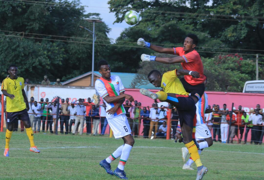 Action between Uganda and Eritrea in the CECAFA U20 Championships on Saturday. (PHOTO/Courtesy)