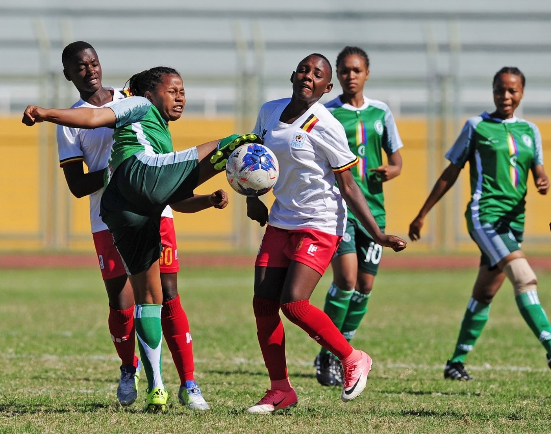 Action between Uganda and Comoros on Tuesday afternoon. (PHOTO/Courtesy)