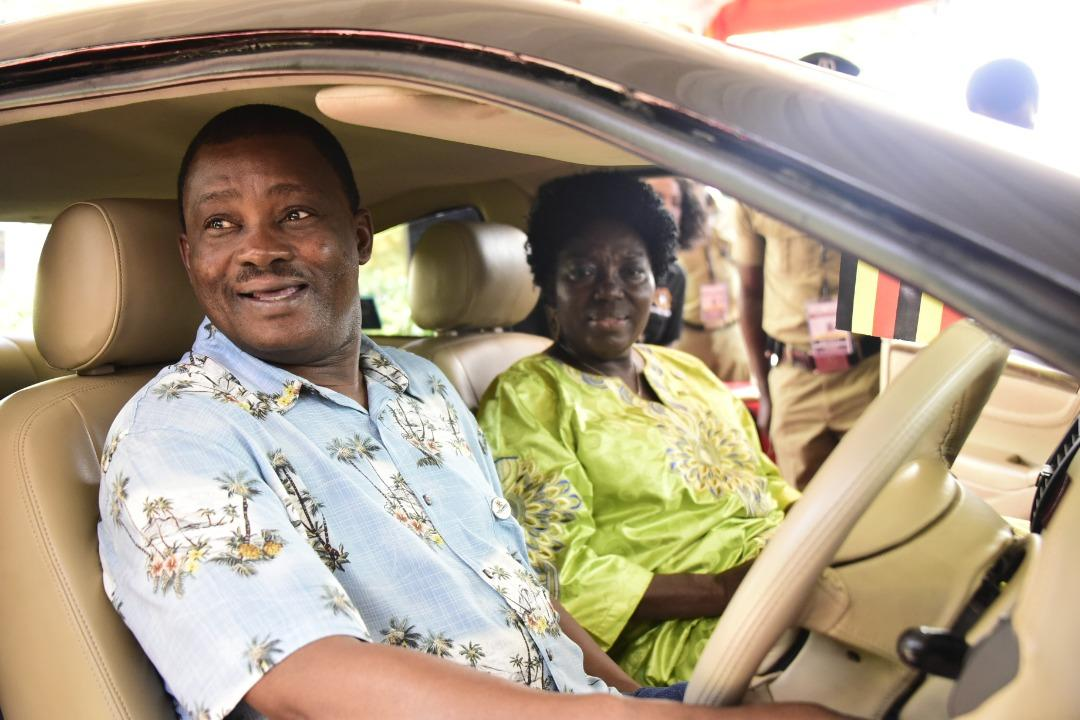 On the sidelines of the conference, Speaker Rebecca Kadaga ushered some of the delegates to sample the first saloon car made in Uganda by Kiira Motor Corporation. (PHOTO/PML Daily)