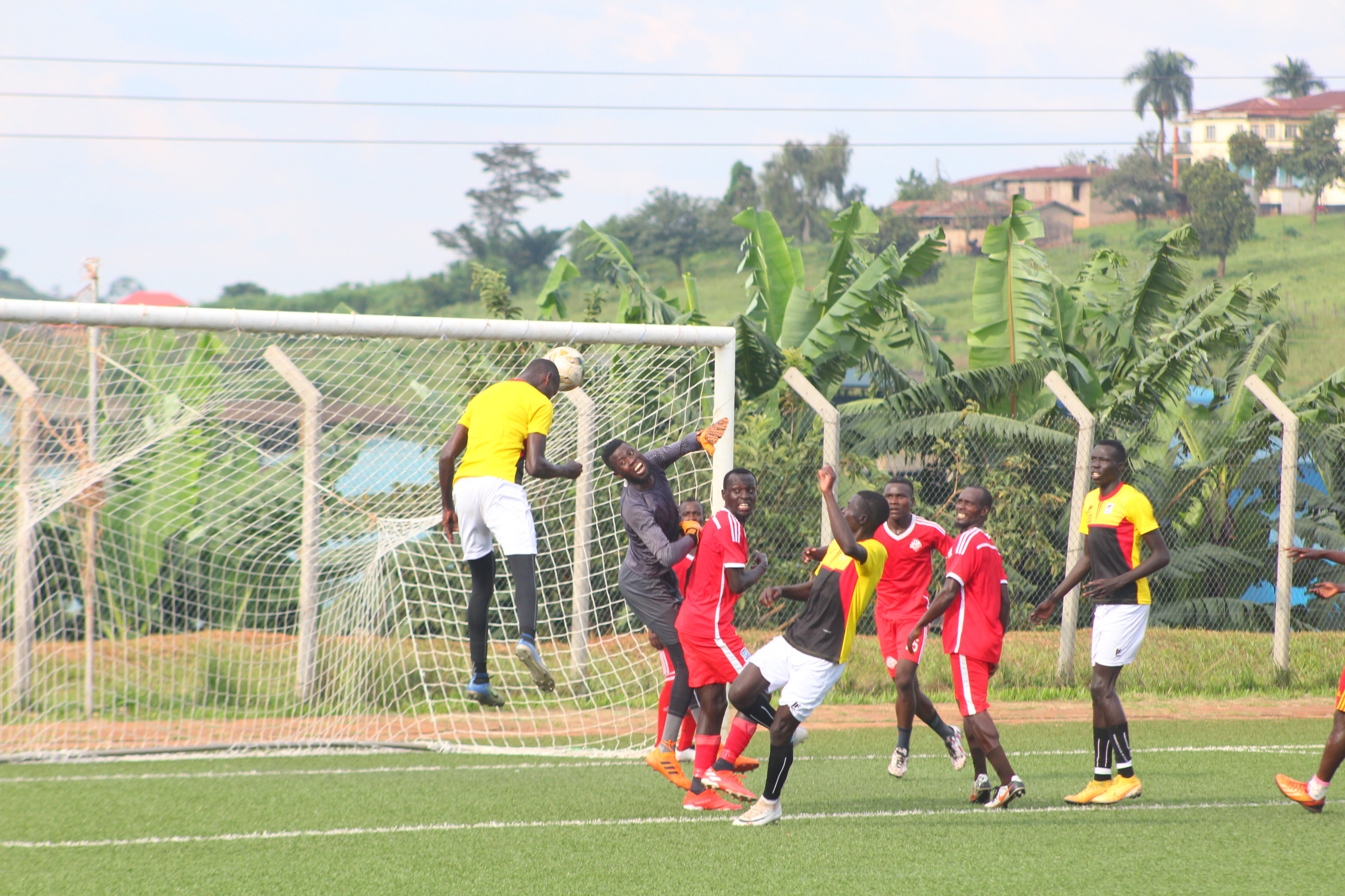 Action between the Hippos and Busoga United on Sunday. (PHOTOS/FUFA)