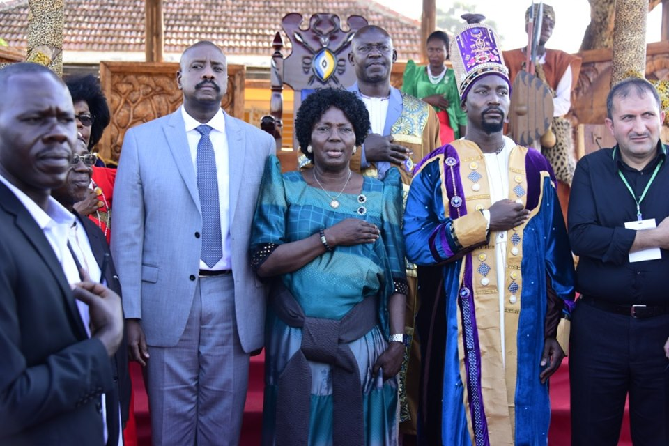 His Majesty William Gabula Nadiope IV and Speaker of Parliament Rebecca Kadaga (PHOTO/File)