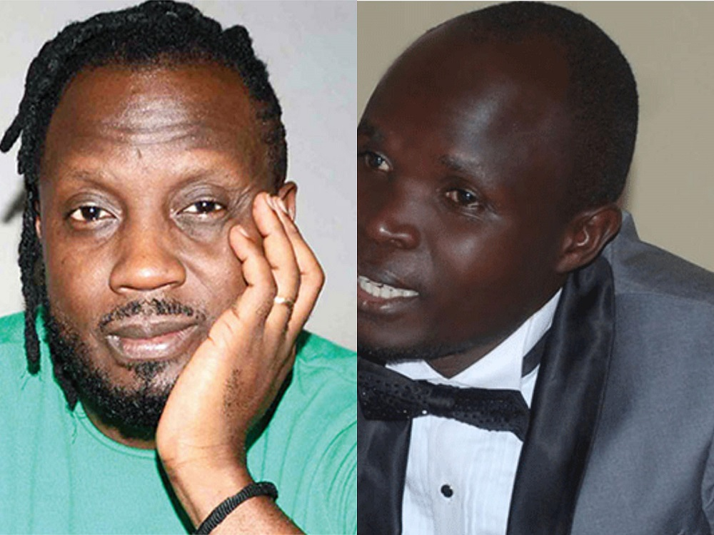 Singers Bebe Cool and Mayinja respectively