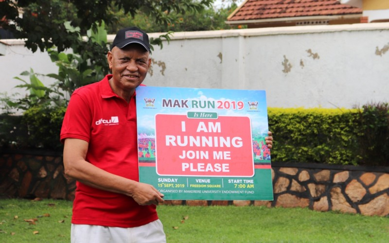 Prof. Mondo Kagonyera, former two-time Chancellor will preside over #MakRun2019 as Chief Runner. (PHOTO/PML Daily)