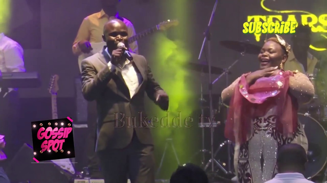 Musician Ronald Mayinja performing