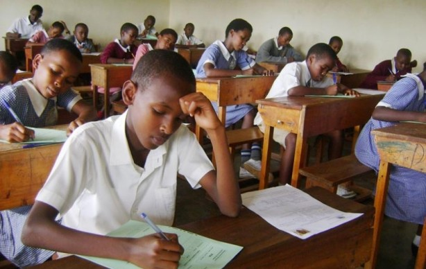Pupils write their PLE exams. (PHOTO/File)