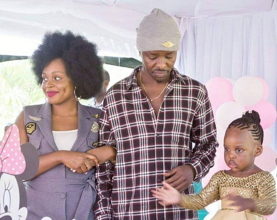 Singers Kenzo, Rema with their daughter Aamal