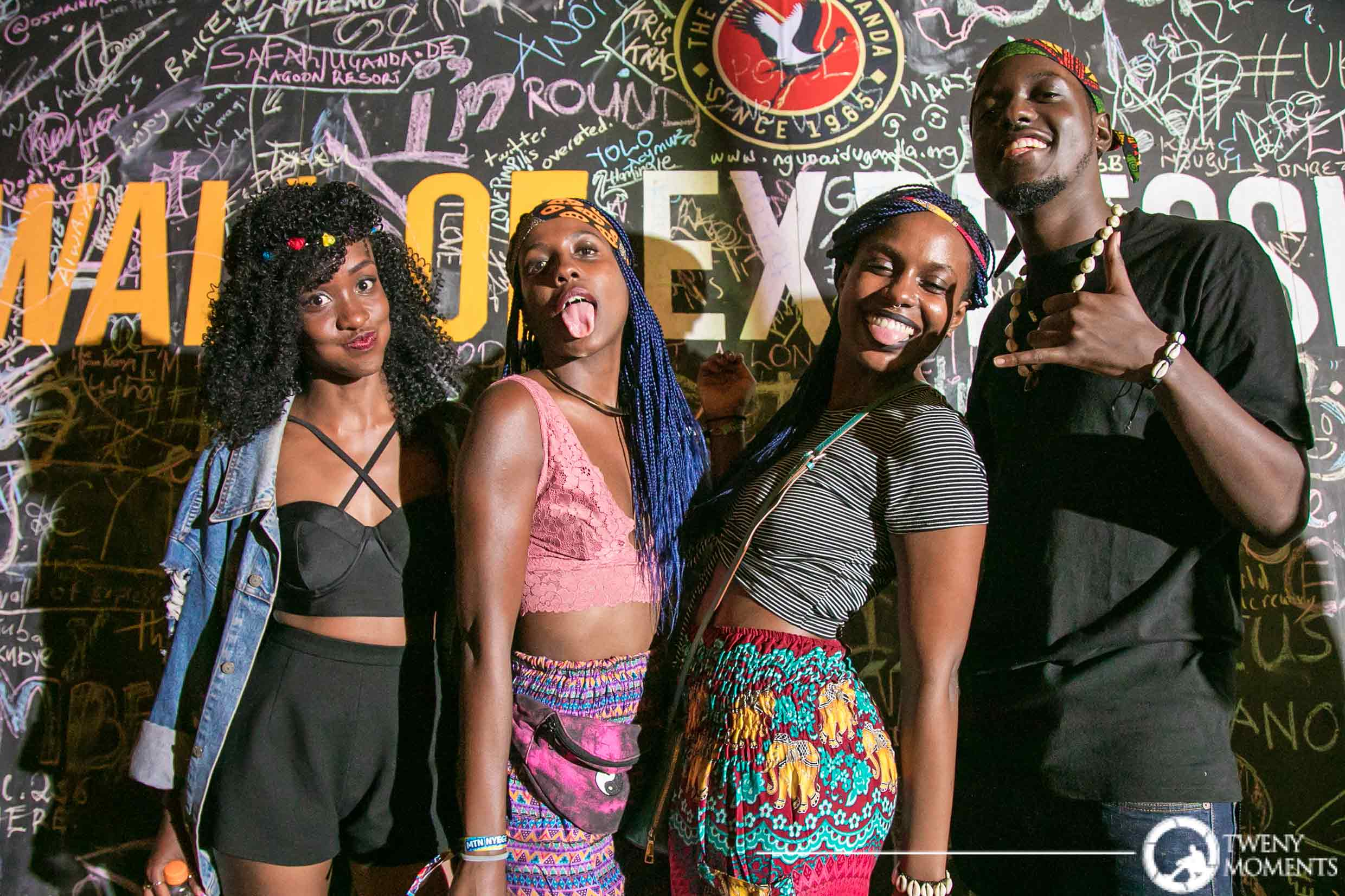 Some of the revelers that graced the nyege nyege efstival