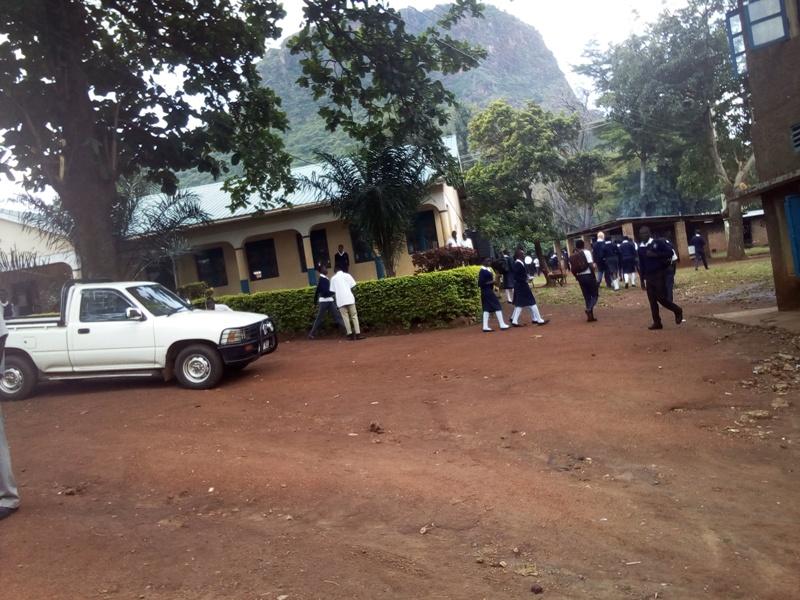 Students move around the school compound. Photo by Joseph Omollo