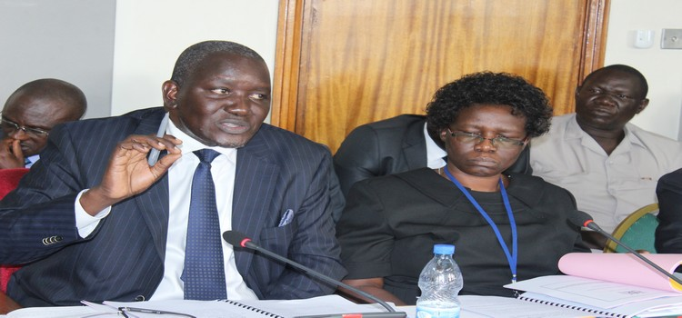 The Permanent Secretary, Ministry of Water and Environment, Alfred Okot Okidi (left) appearing before the Committee on Public Accounts on Wednesday 4 September 2019