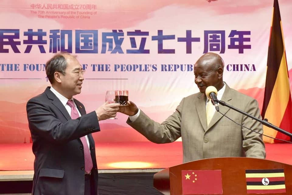 Chinese Ambassador to Uganda, Mr. Zheng Zhuqiang,