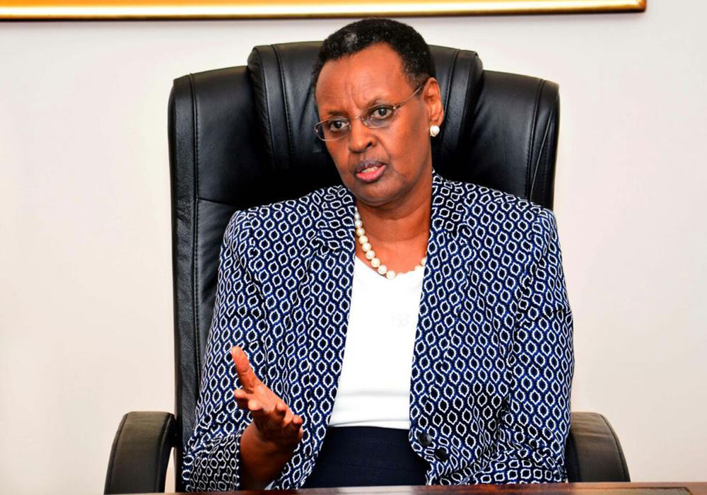Janet Museveni, the First Lady and the minister of education. Schools have reportedly  continued to teach in holidays despite ministry's order not to (PHOTO/File)
