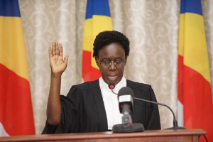 Justice Lillian Tibatemwa-Ekiribubinza has swear-in as a Supreme Court judge of Seychelles. (PHOTO/Courtesy)