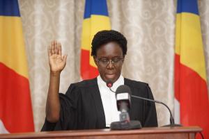 Justice Lillian Tibatemwa-Ekiribubinza has swear-in as a Supreme Court judge of Seychelles. (PHOTO/Courtesy)