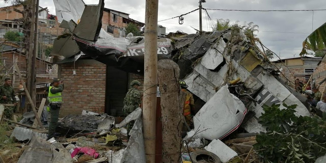 At least seven killed as plane crashes in southwest Colombia city. (PHOTO/Courtesy)