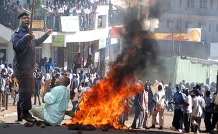 The riots, exactly ten years ago, happened when State machinery was deployed to block a Buganda Kingdom delegation led by then Katikkiro (prime minister) JB Walusimbi from visiting Bugerere County. (PHOTO/File)