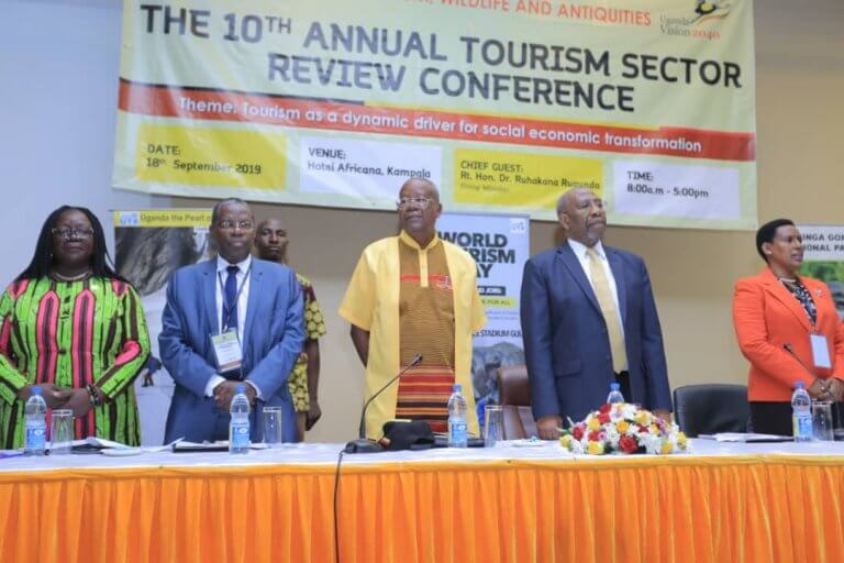 The Uganda Ministry of Tourism Wildlife and Antiquities(MTWA) concluded the 10th Annual Sector Review Conference on the 18th September 2019  at Hotel Africana and Convention Centre, Kampala. (PHOTO/PML Daily)