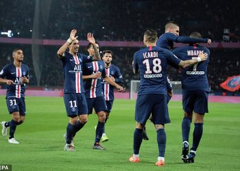 PSG currently hold an 8 point lead at the top of the Ligue One. (PHOTO/File)