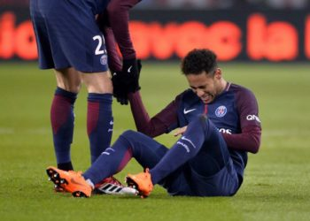 Neymar Jr is out for at least four weeks with a hamstring injury. (PHOTO/Courtesy)