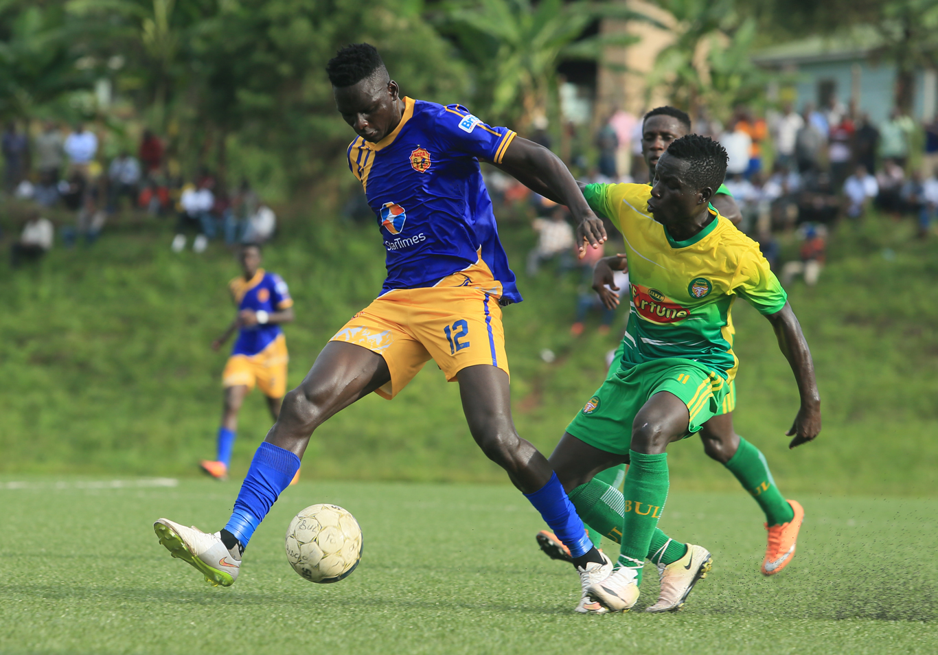 Action between BUL FC and KCCA FC on Tuesday afternoon. (PHOTO/KCCA FC)