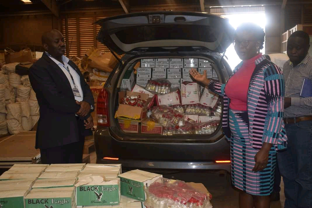 Some of the impounded sachet alcohol (PHOTO/Courtesy)