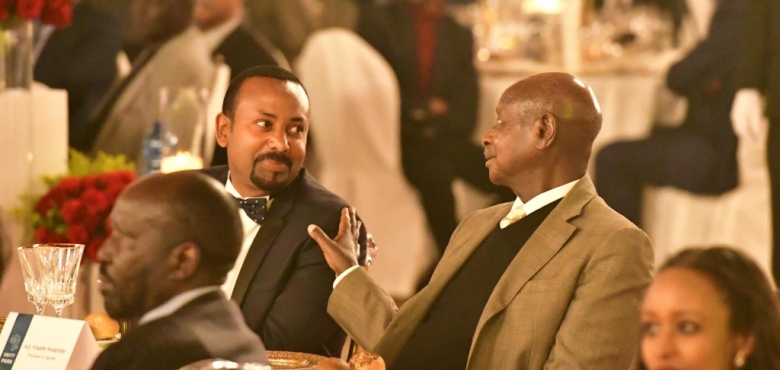 Addis Ababa - Museveni at the Inauguration of the Unity Park and Dinner - 05