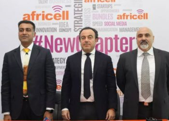 Neeraj Gala, Chief Commercial Officer; Middle: Ziad Dalloul, Founder Africell ; Left: Ziad Daoud, CEO Africell Uganda. (PHOTO/PML Daily)