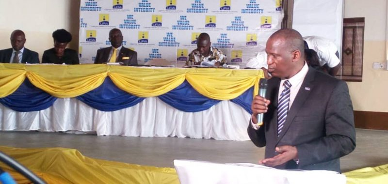 Dr Protazio Begumisa, the URA commissioner Internal Audit and Compliance