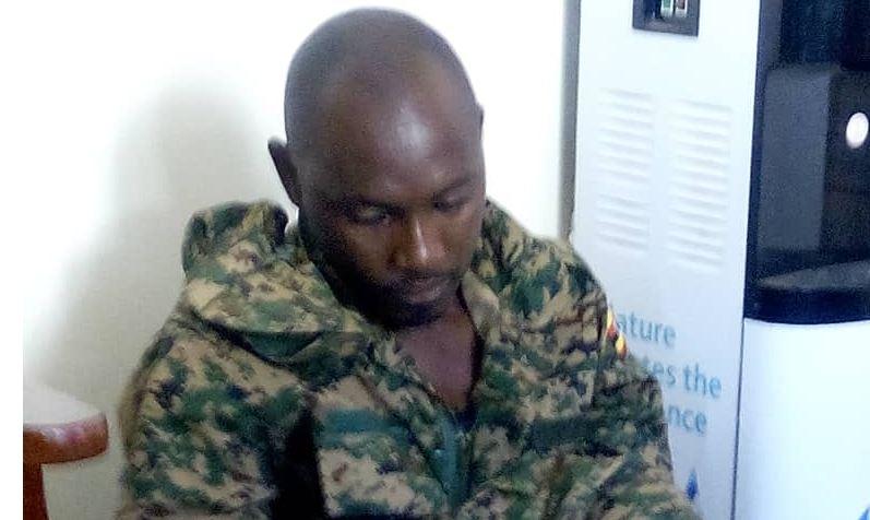 Twebaze after arrest at Katuna police post