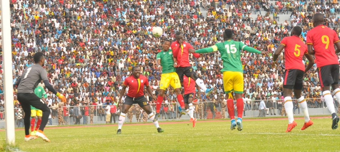 Action between Ethiopia and Uganda on Sunday. (PHOTOS/FUFA)