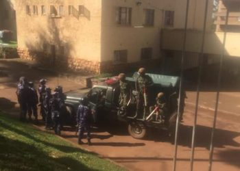 Military Police deployed at Makerere University to calm striking students. (PHOTO/File)