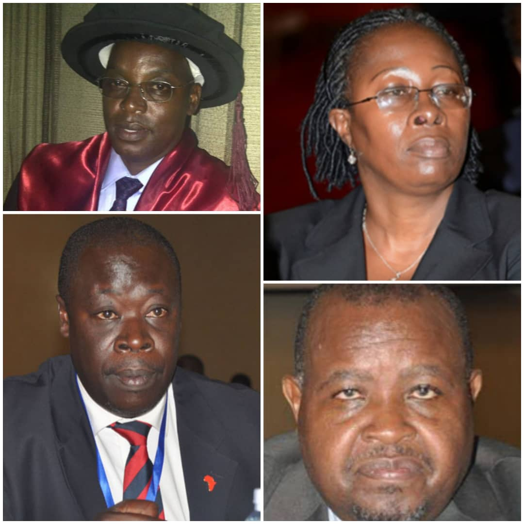 Clockwise: High Court judges, Zaija, Wolayo, Murangira and Giddudu are leading the race for next Principal Judge (PHOTO/File).