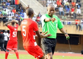 Brian Nsubuga (right) is one of the officials on duty on match-day 10. (PHOTO/File)