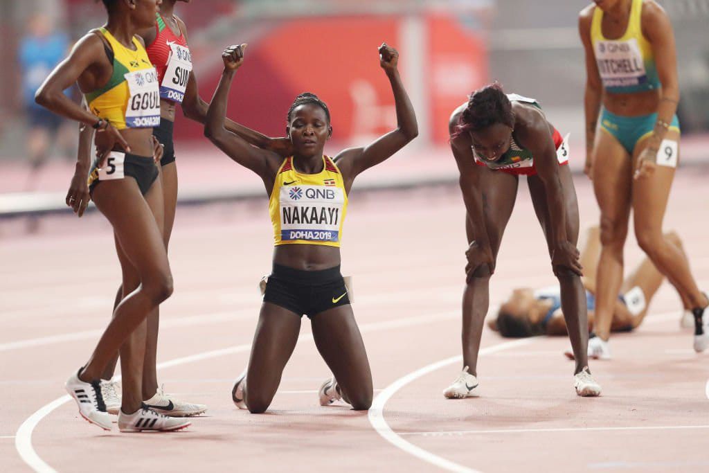 Uganda's Nakaayi upsets field to win women's 800 meters. (PHOTO/Courtesy)