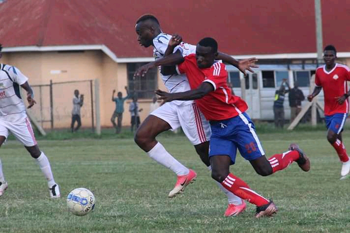 Action between Mbarara City and Busoga United on Tuesday. (PHOTO/Racheal Tebandeke)