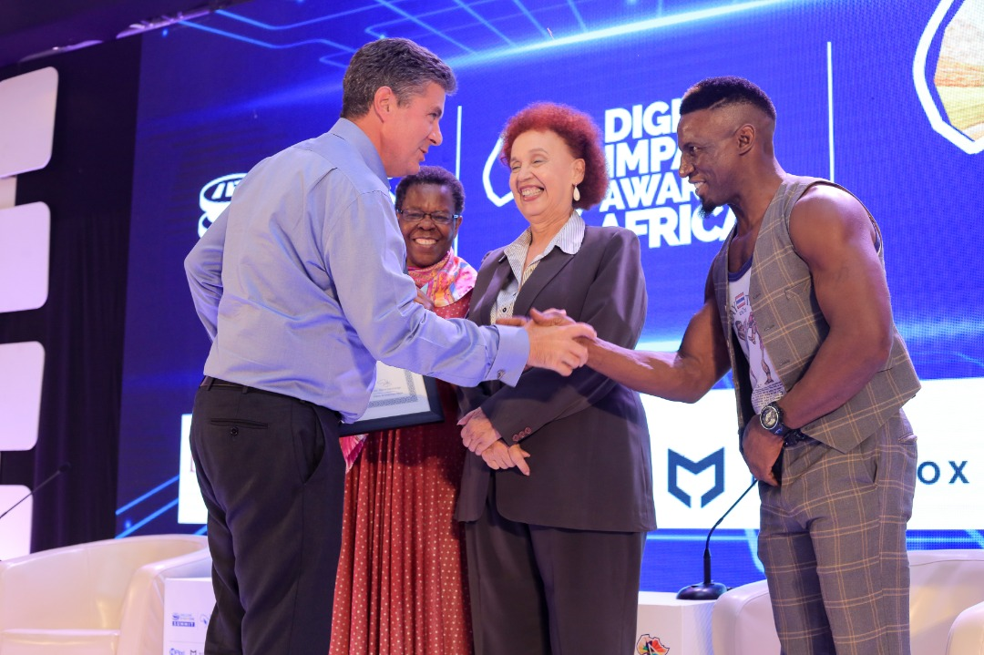 M-Pesa architect Dr Warren received Africa FinTech Leadership Award in Kampala. (PHOTO/Courtesy)