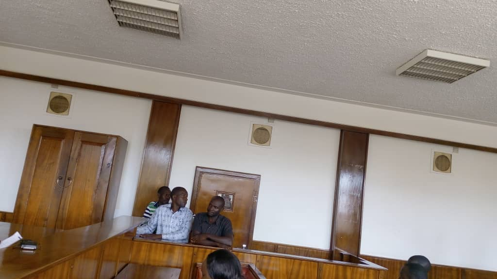 The three suspects in the dock at Buganda Road Court. Photo by Rachel Agaba
